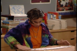 Shawn's shirt(s) rivals Topanga's sari in terms of the color wheel.